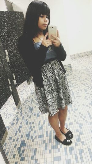 Chilling Random Mexicana Schooltime In The School's Bathroom  Whynot Lolol Dress On A Cold Day