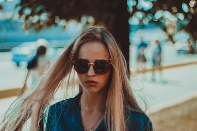 27 февраля. Back. EyeEm Selects Portrait Sunglasses Glasses One Person Fashion Lifestyles Leisure Activity Focus On Foreground Long Hair Women Front View Looking At Camera Young Women Young Adult Real People Headshot Beauty Day Beautiful Woman Hair