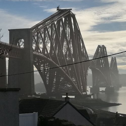 The Forth Bridge on a misty February morning. Bridge - Man Made Structure Business Finance And Industry City Archival Architecture Travel Destinations Harbor Water Outdoors Day Sky No People Forth Bridge Architecture Travel Tourism Scotland Edinburgh Scottish History Scotland Travel Scotland History Transport Rail Transportation Megastructure Megastructures