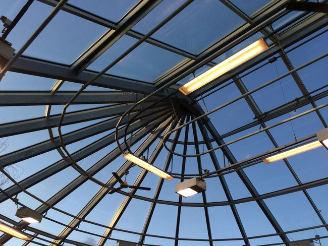 Greenhouse Glasshouse In The Greenhouse Tropical Greenhouse Lights Uppsala, Sweden Rooftop Roof Taking Photos Check This Out Kaos Light No Filter No People