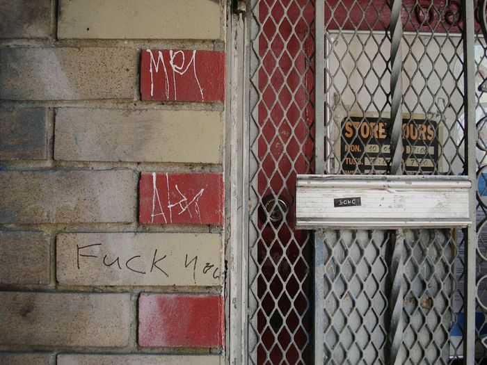 Notes From The Underground Urban Decay Back Alleys Tags Words Graffiti Tenderloin Signs Ouch Whatever