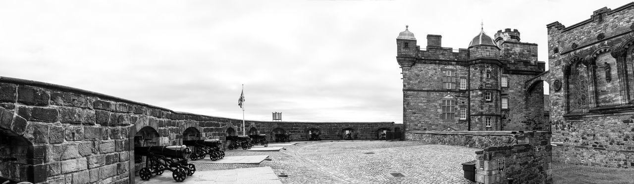 Black & White Canons Castle Defenses Edinburgh Edinburgh Castle Black And White Blackandwhite Canon Crown Jewels History Kings Ramparts Stone Wall