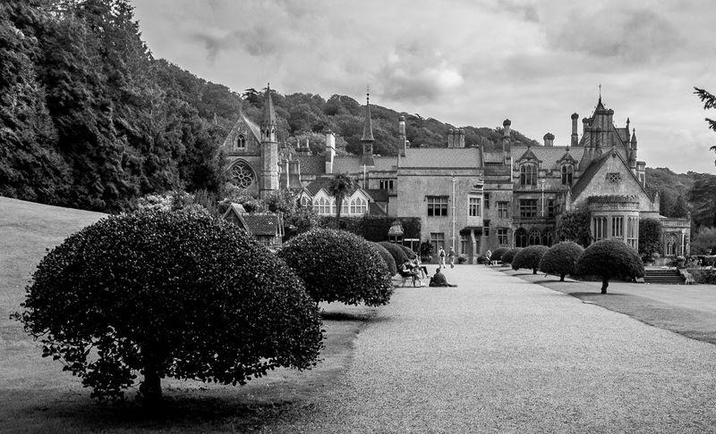 Drive, Tyntesfield, Bristol Monochrome Black And White Architecture Tyntesfield