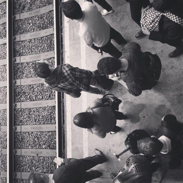 Train Streetphotography Streetphoto_bw Public Transportation People Shades Of Grey