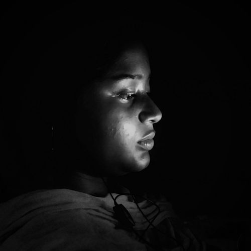 Beauty in the dark.... Girl Beauty In The Dark Shadow Portrait One Person Contemplation Only Women Headshot People One Young Woman Only Adults Only Night Black Background Beautiful Woman Close-up Young Women Black And White B & W Portrait The Portraitist - 2017 EyeEm Awards The Portraitist - 2017 EyeEm Awards