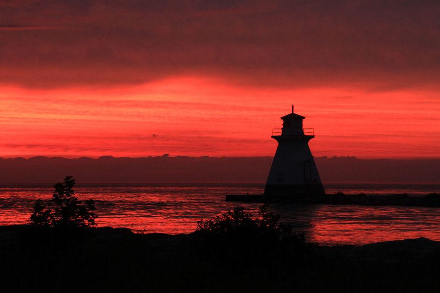 EyeEmNewHere Lake Huron Lake Huron, Canada Lighthouse Silhouette Southampton, Ontario Sunset