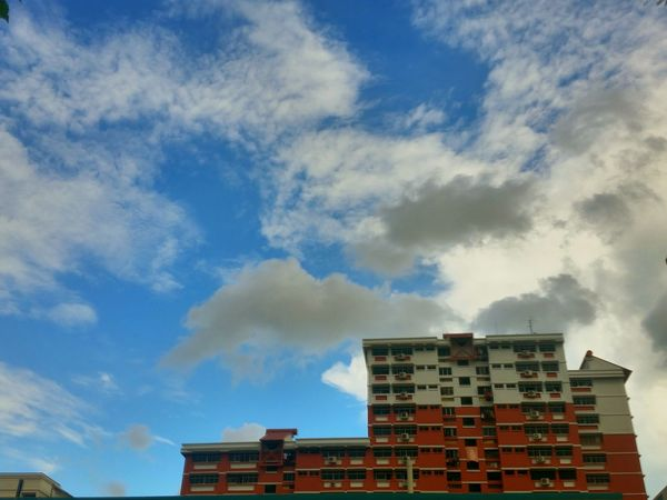 Skies over the heartlands.. Clouds And Sky Blue Sky Clouds Public Housing Buildings & Sky Highrisebuilding Highrise Living