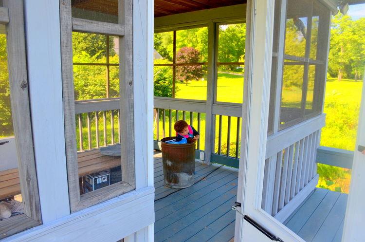 Architecture Built Structure Day Leisure Activity Little Boy Nature Outside Pondhouse