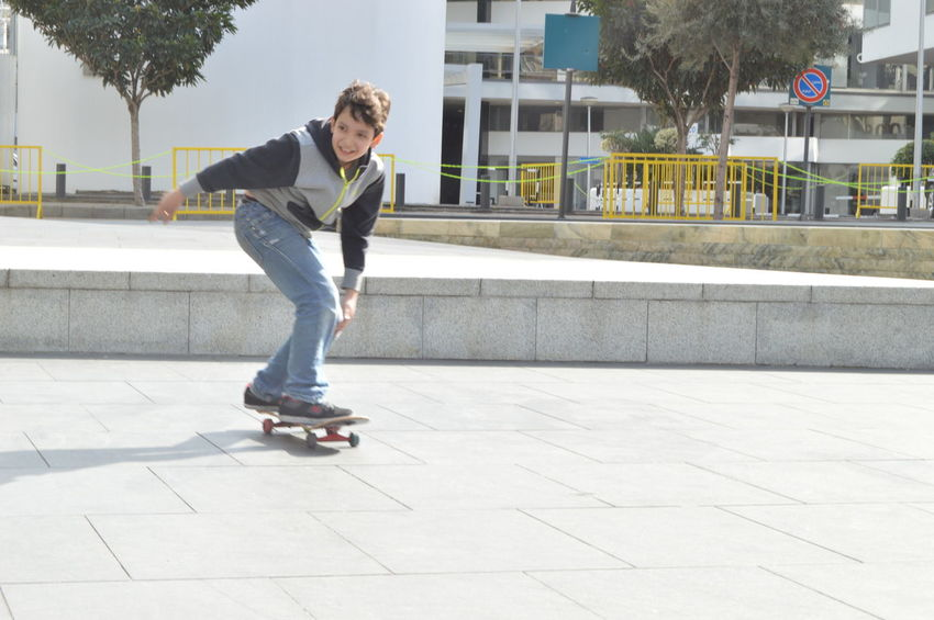 Beautiful Hello World In Action Kids Being Kids Love Out And About Skate Boarding  Sun Light