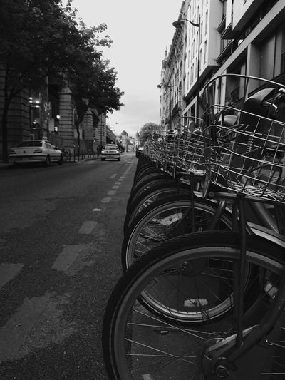 Paris Parisbikes Blackandwhite Black & White Streetphotography Street Of Paris France Bikesaroundtheworld