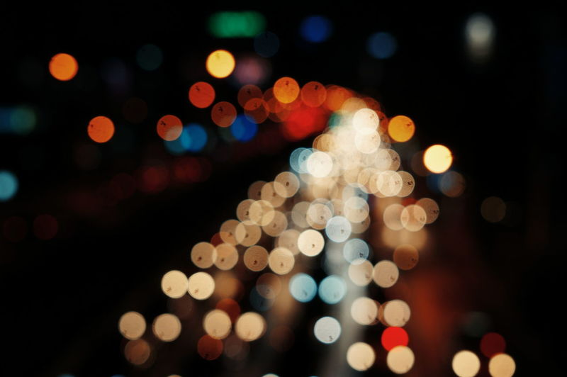 Abstract Circle Colorful Defocused Glowing Illuminated Light Multi Colored Night No People Showcase April My Commute Colour Of Life
