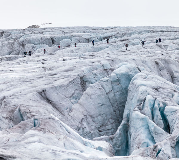 Beauty In Nature Blue Ice Cold Crevasse Day Glacier Walk Glass Global Warming Ice Idyllic Landscape Mountain Nature Norway Outdoors Remote Scenics Sky The Great Outdoors - 2016 EyeEm Awards Tourism Tranquility Travel Destinations Vacations White Ice Age