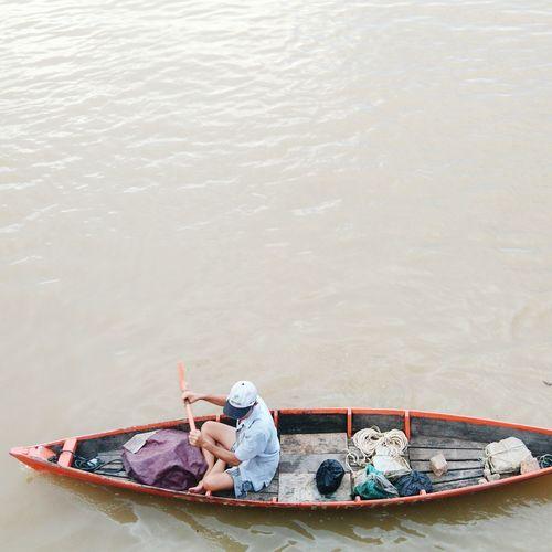 Tak beralih Water Lake Nautical Vessel One Person Child Vacations People First Eyeem Photo