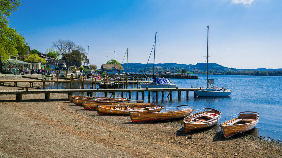 Ambleside Pier with boat and yacht Beach Beauty In Nature Blue Boat Clear Sky Day Lake Mast Mode Of Transport Nature Outdoors Pier Scenics Sky Tranquility Transportation Tree Water Yacht Neighborhood Map