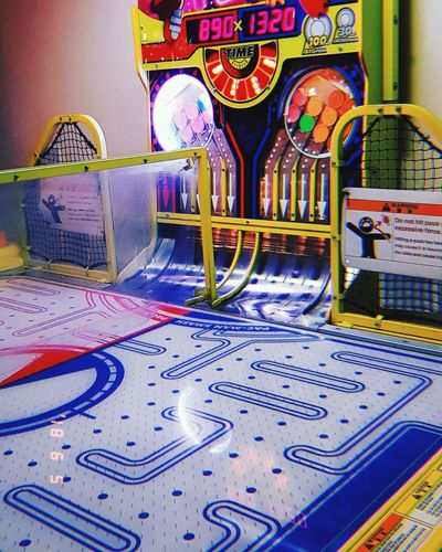 Arcade Arcade Games Air Hockey Pacman Game Fun Photography Vibrant Colourful Retro Filter Lights Close-up