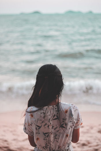 Let the sea set you free. Sea Water Women Beach Real People Standing Long Hair Focus On Foreground Outdoors Nature One Person Girl Relaxing Photography CaptureTheMoment