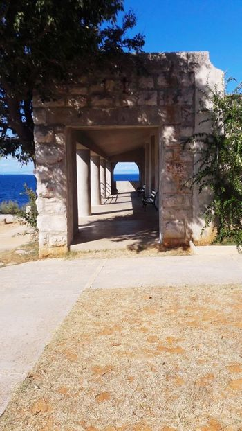 Veli Lošinj Architecture Built Structure Door Sunny House Sand Day Clear Sky Sunlight Shadow Building Exterior Desert No People Sand Dune Outdoors Sky