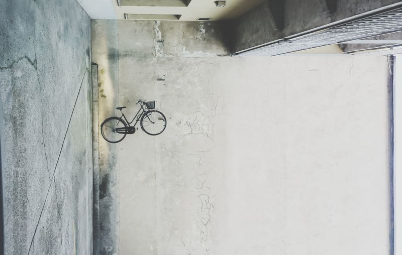 Flying bike Bike Transportation City House Close-up Architecture Built Structure Residential Structure Residential District City Location Land Vehicle Urban Scene Vehicle Parking