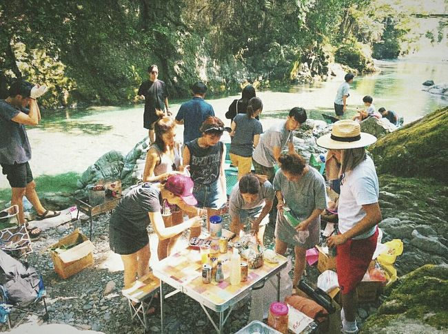 Person Water Standing Togetherness Lakeside Riverbank Outdoors BBQ Time BBQing Bbqtime