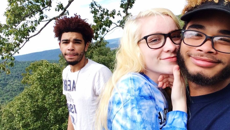 On Top Of Lookout Mountain In Tennessee. My Son And His Girlfriend 1st Year Anniversary. Looking At Camera Portrait My Eldest Son In The Background. Real People Outdoors Eyeglasses  Togetherness Smiling Tree Nature Lifestyles Happiness Sky Tranquility Beauty In Nature Cloud - Sky