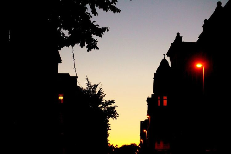 Silhouette Architecture Sunset Night Sky Outdoors EyeEm Gallery Leipzig Germany