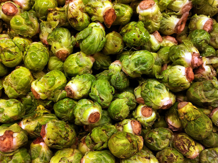 Full Frame Shot Of Brussel Sprouts
