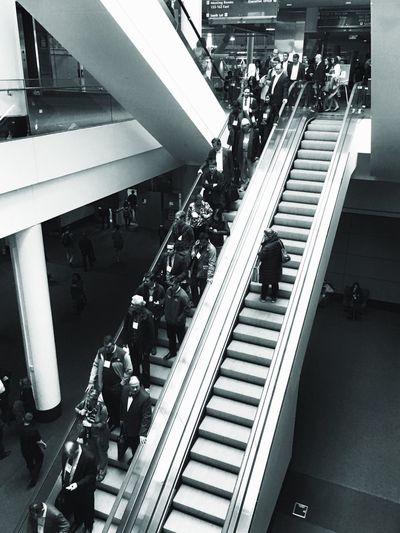 Exodus ... Escalator Steps And Staircases Modern Architecture EyeEm Best Shots - Black + White Blackandwhite