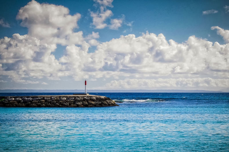 Lighthouse Blue Blue Sky Cloudy Discovery Earth EyeEm Best Shots Eyeem Collection Horizon Landsceape Nature No Man's Land Outdoors Peaceful Sea And Sky Seascape Wanderlust Color Palette