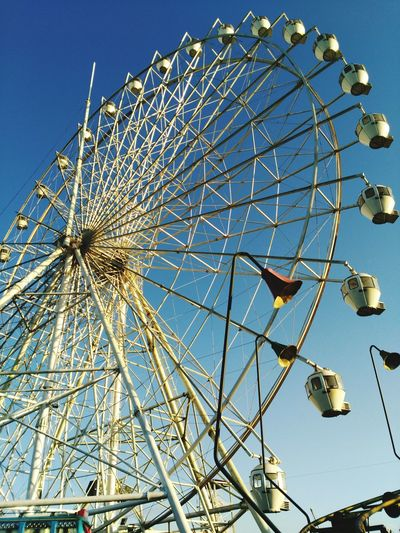 Ferris Wheel Low Angle View Amusement Park Arts Culture And Entertainment No People Sky Amusement Park Ride Close-up Outdoors Day Starcity Philippines