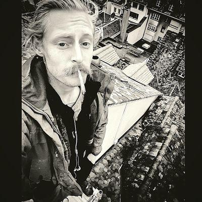 Hello World That's Me Enjoying Marijuana Rooftop View