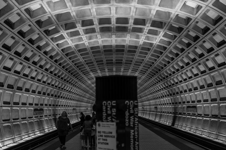 Architecture Built Structure City City Life Group Of People Lifestyles Medium Group Of People Metro Station Subway Subway Station The Architect - 2016 EyeEm Awards The Street Photographer - 2016 EyeEm Awards Train Transportation Building - Type Of Building Travel Destinations Unrecognizable Person Washington, D. C.