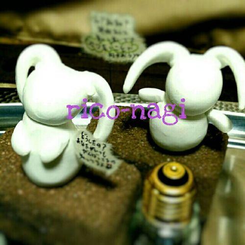 明後日からの作品展。 ディスプレーに置物でも作るかぁ~ って作り出したら止まらなくて 作品として飾ることにしてきます(笑) ウサギ大好きやから置物は ウサギ祭りですけどね(о´∀`о) お楽しみに~♪ Rico-nagi Handmade