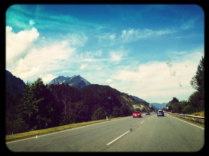Im Auto In The Car Berge