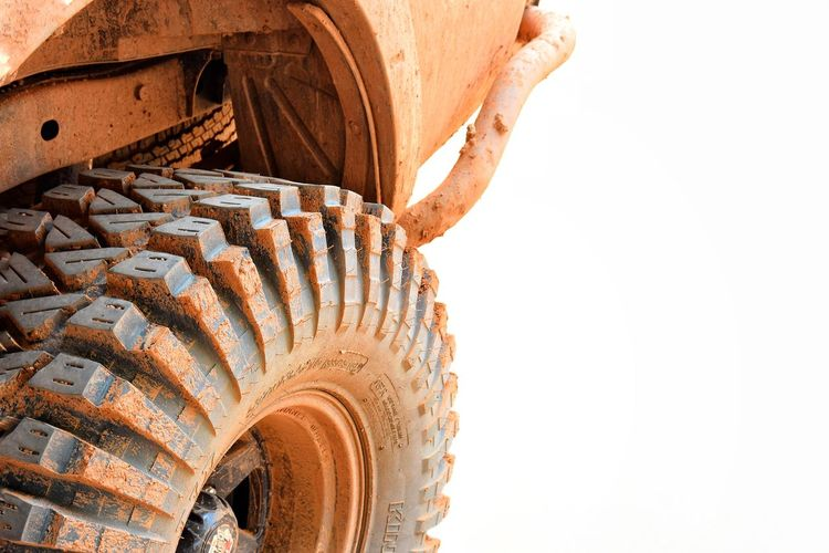 Close-up of wheel against white background
