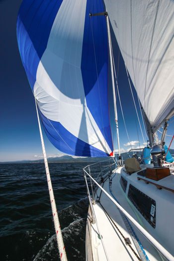 Sailboat under