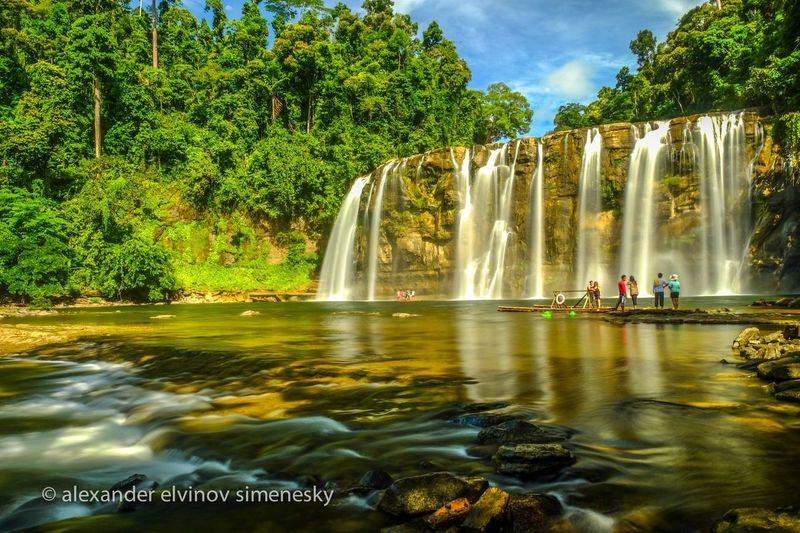 Tinuy-an Falls, Surigao del sur Water Tree Fountain Plant Motion Nature Long Exposure Beauty In Nature Travel Destinations Waterfall Architecture Travel Sky Tourism Blurred Motion Scenics - Nature Outdoors Splashing Waterfront