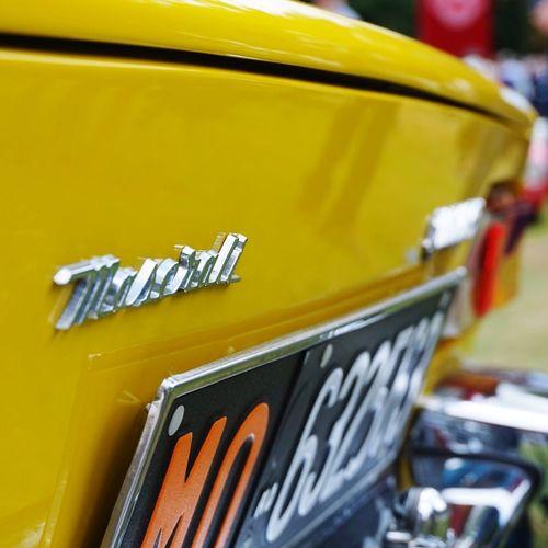 Yellow MASERATI Classic Cars GoodWood Fos Close-up