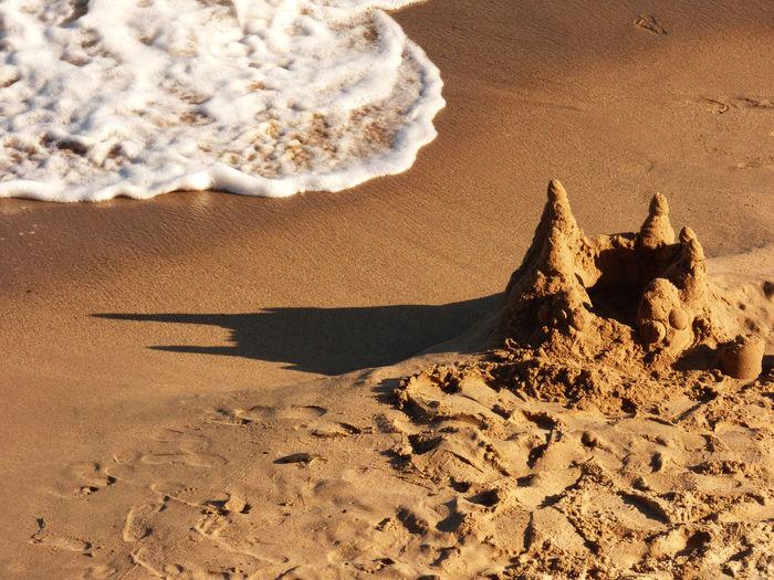 Sand house at beach