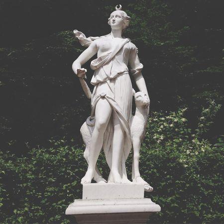 Sansoucci Statue Aesthetics Art Sculpture Beautiful Garden Berlin Germany