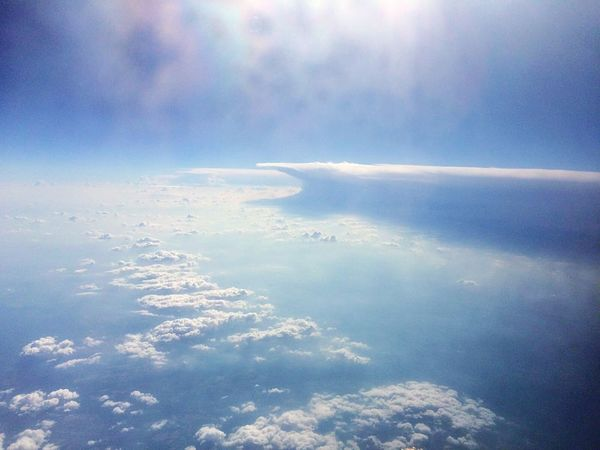 Cloud - Sky Sky Nature Beauty In Nature Ethereal Heaven Aerial View No People Water Sea Outdoors Scenics Day Space Satellite View Over The Clouds Overview Horizon Over Water Beautiful Nature Flying High Flight Beauty In Nature Nature Clouds