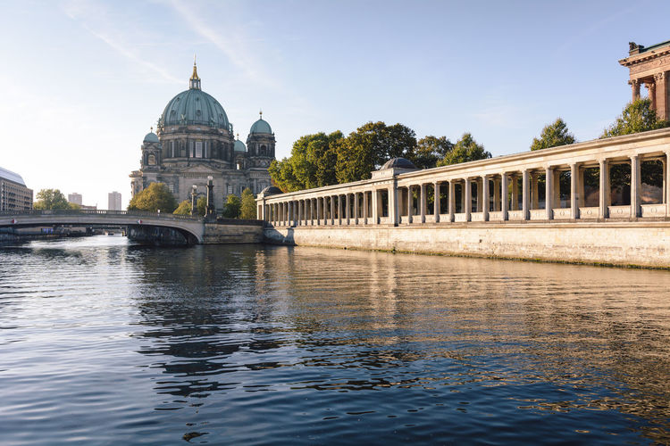 berlin cathedral at sunrise Architecture Architecture Berlin Berlin Cathedral Berliner Dom Building Exterior Built Structure City Cityscape Day Daytime Dome Germany History International Landmark New Day No People Outdoors Sightseeing Sky Spree River Berlin Sunrise Sunset Travel Destinations Water