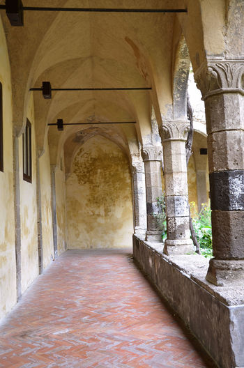 Old Convent. Travel Arch Architectural Column Architectural Feature Architecture Architecture Architecture_collection Built Structure Column Corridor Culture Diminishing Perspective Eye4photography  EyeEm Best Edits EyeEm Best Shots EyeEm Gallery Historic Indoors  Interior Monastery Old Old Ruin Outdoors Perspective Religion