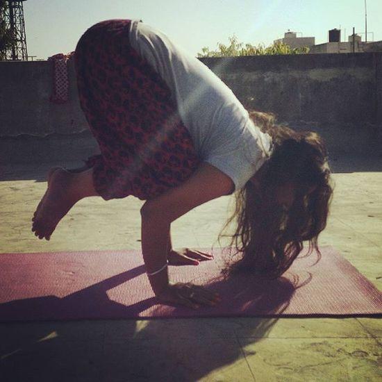 Morning practice Crow pose PrachiClass yoga Yogachallenge Yogalove Yogagirl Yogaeverydamnday Igyoga Likesforlikes Like4follow Tagsforlike Followme Follow4follow Yogafollowers