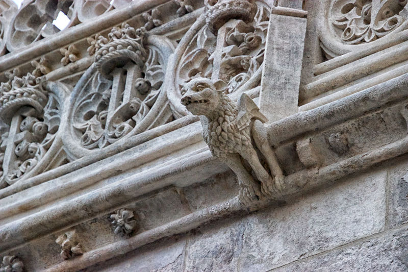 Gargoyle Sculpture Architecture Art And Craft Representation Craft The Past History Carving - Craft Product Built Structure No People Stone Material Low Angle View Building Exterior Statue Day Ancient Human Representation Solid Creativity Old Bas Relief Ornate Carving