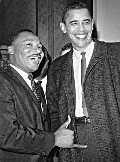 This would of been History MLK Obama