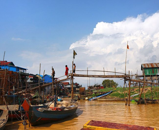 Even villages on stilts need bridges ! Tonlesap Cambodia Travel Photography Canon Bridge Crossing The Bridge River Stilts Eye4photography  The Purist (no Edit, No Filter) Daily Life Rural Scenes Traveling Taking Photos Ladyphotographerofthemonth Hello World Check This Out Silhouette