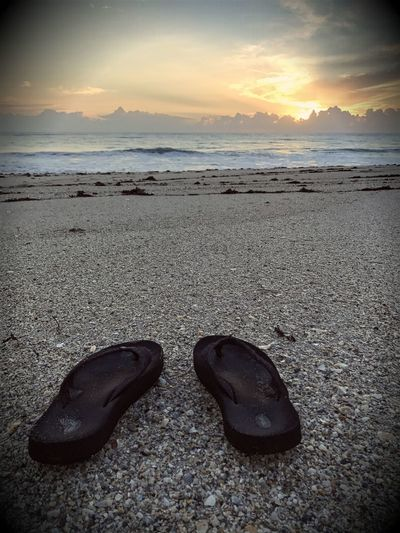 Beach Day Flip-flop No People Outdoors Pair Sea Shoe Sky Sunset Live For The Story