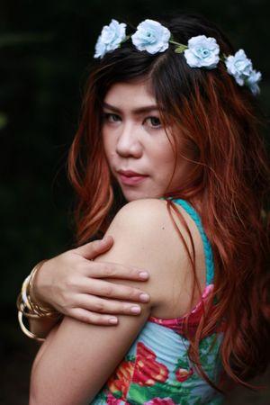 Diwa-Diwataan. XD Canon EOS 550D+ YN 50mm. La-mesa Eco Park. Blond Hair Close-up Eye Em Eye Em Best Shots Eye Em Nature Lover Eye Em Philippines Girls Person Portrait Portraits Smiling Tan Woman Portrait