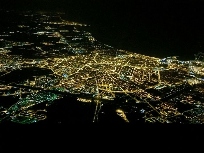 Valencia Spain Nightlife Night City Aeroplane Photography Sky View Valencia, Spain Valencia Nocturna