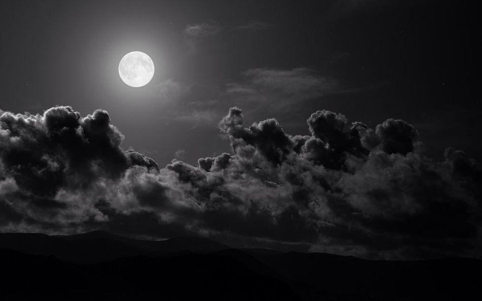 Moon. Nature Hello World
